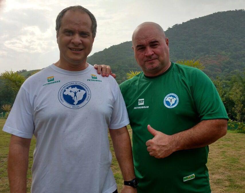 Os técnicos da Seleção Brasileira, Dragos Stanica e Luís Lopez