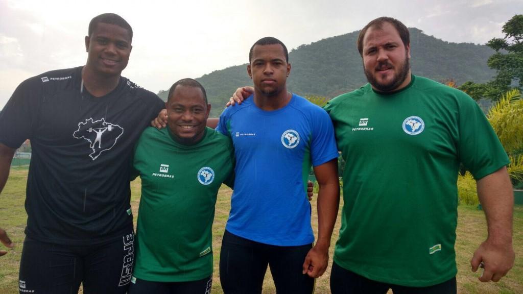 A equipe masculina conta com Mateus Machado, Welisson Rosa, Romário Martins e o bicampeão pan-americano Fernando Reis