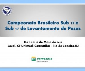 Campeonato Brasileiro Sub 15 e Sub 17 - 2016