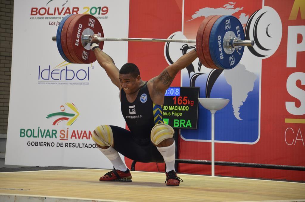 Mateus Gregório: bronze no arranco da categoria 105 kg. Foto: Divulgação CBLP